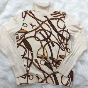 Ralph Lauren turtle neck sweater equestrian size L
